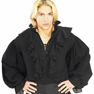 Black Gauze Pirate Shirt